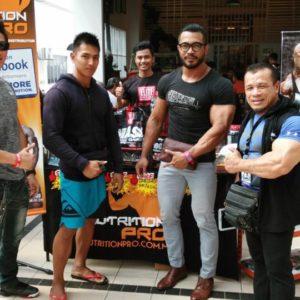 Harizon Ramli with friends at Mr Brotherhood 2016