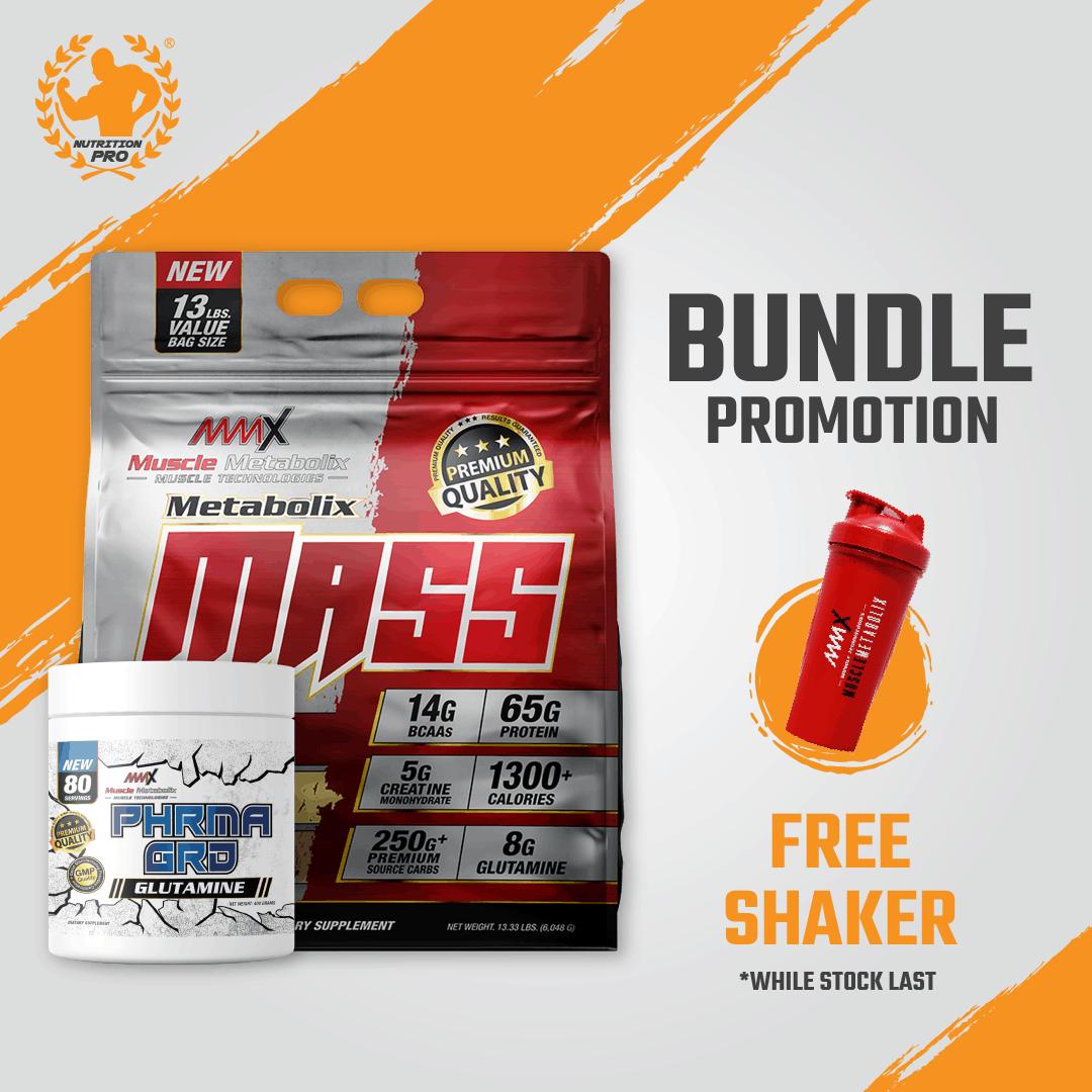 MMX Mass 13lbs + MMX Glutamine Bundle De...